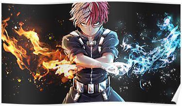 Todoroki Bnha Poster By Spukycat Hero Wallpaper My Hero Academia Manga Anime Wallpaper Live