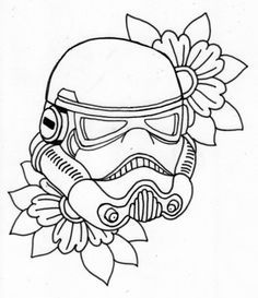 Stormtrooper Tattoo Outline Star Wars Stencils Dream Tattoos Bounty Hunter Body Mods Science Fiction Designs