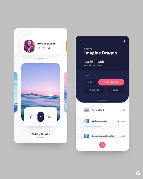 "UI Gradient | Learn UI/UX on Instagram: ""Share your thoughts on this design and make sure you check out the amazing author: @farianzum - Link: https://dribbble.com/farianzum -…"""