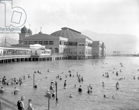 Old resort on the Salt Lake.