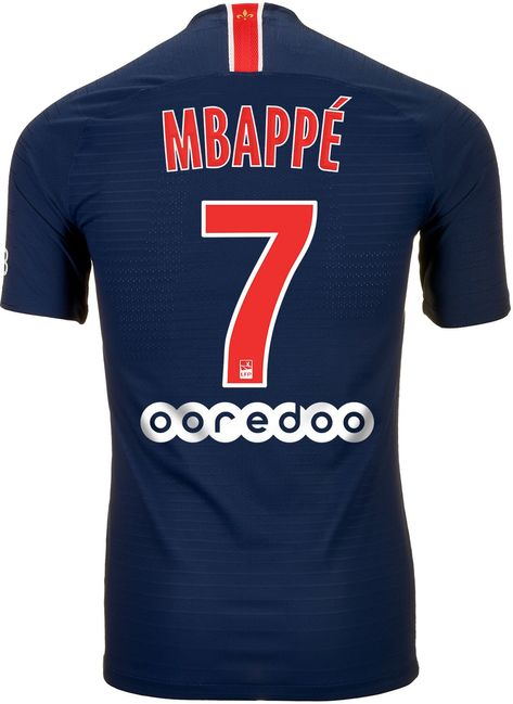 0a6e98b1a Shop for the 2018 19 Nike PSG Kylian Mbappe Home Match Jersey today from  soccerpro.com