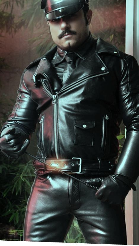 A Rare 10 Biker Bear with Real Leather Boots and Jacket.