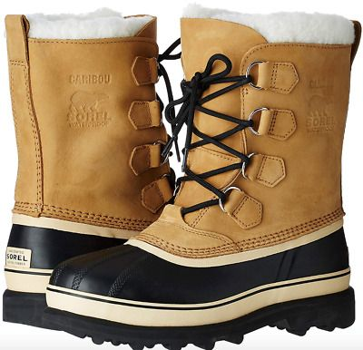 a6594dfdf6b eBay Sponsored) Sorel Mens Caribou Boots Nubuck Leather Removable ...
