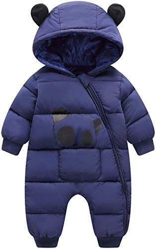 0-9M Newborn Infant Baby Girls and Boys Winter Padded Warm Jackets Ear Hooded Zipper Snow Coats Outwear