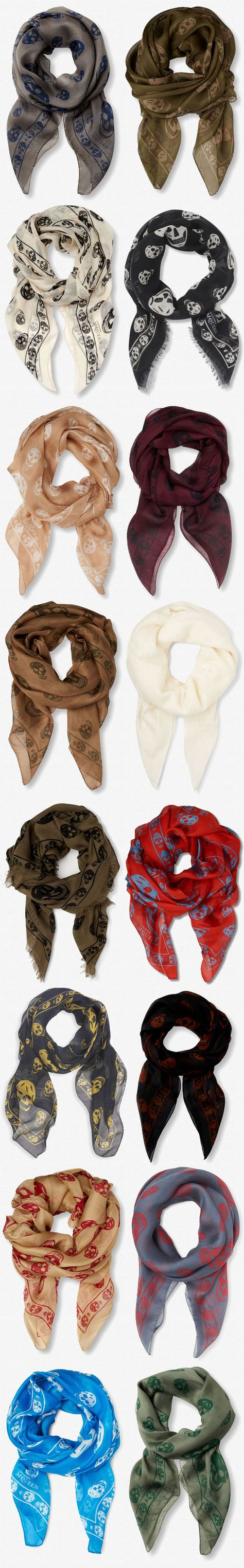 Which is your favourite Alexander McQueen scarf colour?