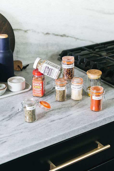 Herbs and Spices That I Always Keep on Hand for a Well-Stocked Kitchen. Must-have herbs, spices, spice mixes, salts, and pepper for cooking and baking. Pantry staples for cooking   a look inside my spice rack #pantryessentials #pantrystaples #pantry #grocerylist #groceryshopping #herbs #herbsandspices #spicedrawer