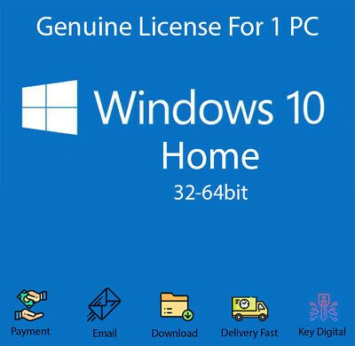 Ebay Link Ad Windows 10 Home 32 64 Bit Activation Key For 1 Pc Genuine In 2020 Activities Email Download Windows 10