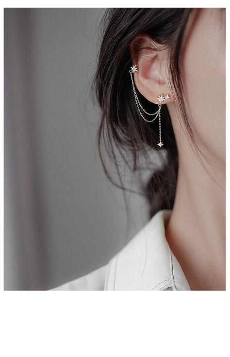 Mar 2020 - White Tanuki's ✨ The Stars Above Ear Cuffs Jewelry For Her, Ear Jewelry, Stylish Jewelry, Simple Jewelry, Cute Jewelry, Skull Jewelry, Cheap Earrings, Silver Earrings, Ear Cuff Earrings