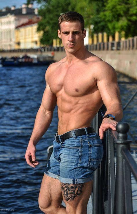 Hunks in shorts