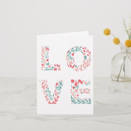 Modern Editable Pastel Floral Love Valentine Card Zazzle Com