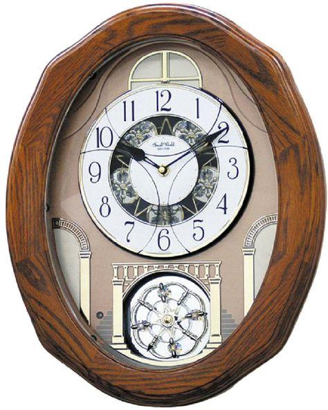 Rhythm Clocks Joyful Glory Musical Motion Wall Clock 4mh897wu06 Lampsusa