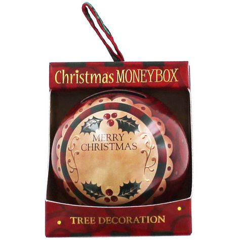Personalised Money Box Bauble - Red | Christmas - New In! at The Works