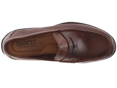 9876e1541a0 Born Simon Men s Slip on Shoes Cymbal Full-Grain Leather