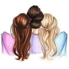 Image Result For Three Best Friends Art