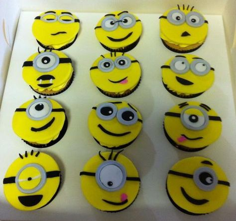 Minion Cupcakes by Pitter Patter Party Cakes, Beaconsfield, Victoria, Australia. You'll find this Cake Appreciation Society Member in our Directory at www.cakeappreciationsociety.com