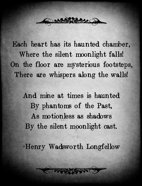The Haunted Chamber by Henry Wadsworth Longfellow