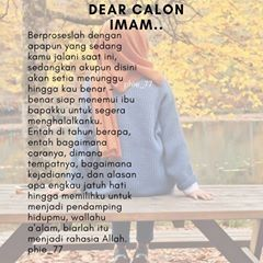 Dear Calon Imam Part 3 Akupun Tidak Tahu Kepada Siapa Kamu