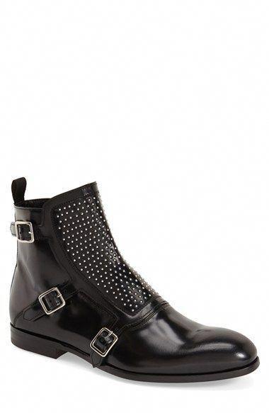 497792ef4c363 Alexander McQueen 'Three Buckle' Studded Boot (Men) available at #Nordstrom  #AlexanderMcQueen