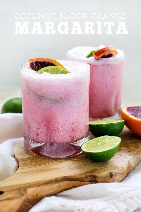Coconut Margarita, Blood Orange Margarita, Margarita Recipes, Cocktail Recipes, Margarita Cocktail, Cocktail Drinks, Coconut Milk Cocktail, Fun Drinks, Yummy Drinks