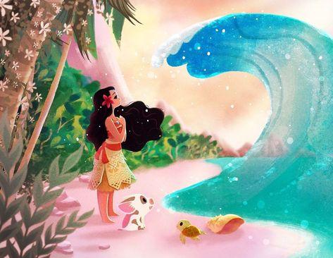 Disney WonderGround Gallery Ocean is Calling Moana Print by Eunjung June Kim | Collectibles, Disneyana, Contemporary (1968-Now) | eBay!