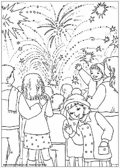 Nowy Rok Sylwester Zegary Sylwester Kolorowanka 14 Gif