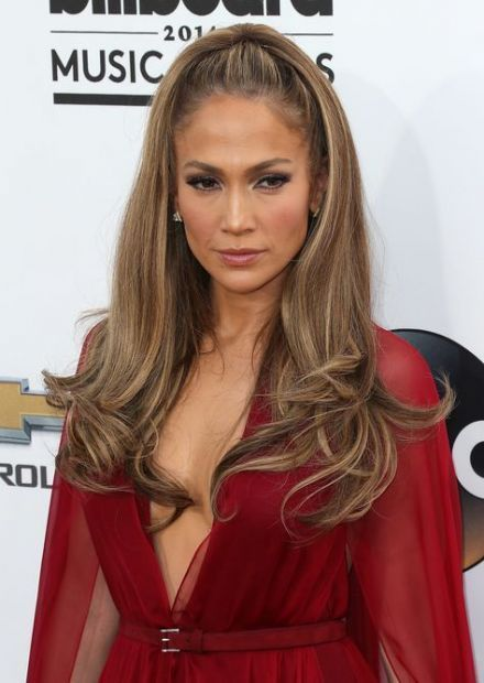 Hair Red Carpet Half Up Beautiful 16 Ideas Hair Hair Styles Jennifer Lopez Hair Long Hair Styles