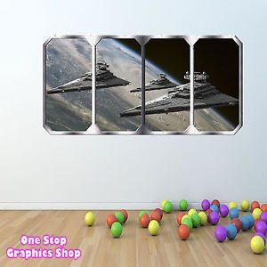 1Stop Graphics   Shop Star Wars Wall Sticker Full Colour Space Window    Boys Girls Toy Lego C188   Size: Medium: Amazon.co.uk: Kitchen U0026 Hom. Part 52