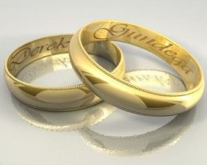 Amazing Wedding Rings I Would Go All Corny And Get Our Names Engraved In Them We