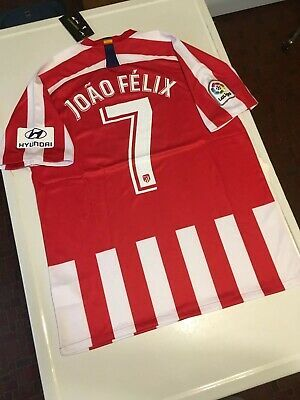 Nike Atletico Madrid Joao Felix Jersey L Large Mens 19 20 Home Kit Shirt Fashion Sports Mem Cards Fan Shop Fanapparelsouvenirs Soccerint Felix Joaozinho