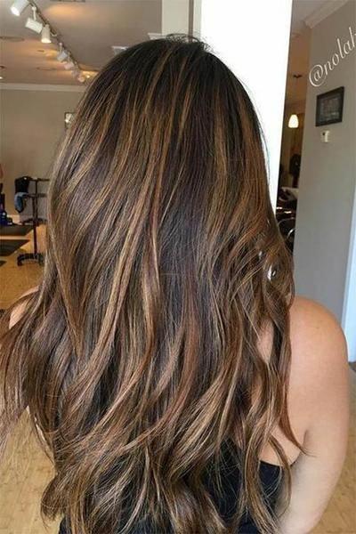 Straight Hair Hairdos For Medium Straight Hair Hair Style For Long Straight Hair 20190614 Brown Hair With Highlights Hair Color Asian Light Hair Color