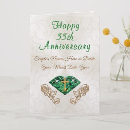Christian Emerald 55th Wedding Anniversary Cards Anniversary