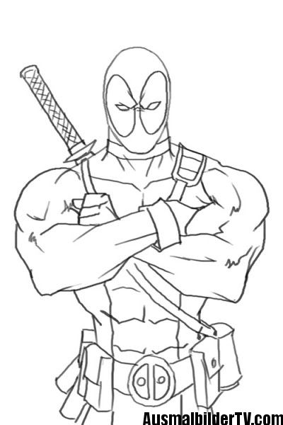 Deadpool Ausmalbilder Creations N Ideas In 2019 Ausmalbilder
