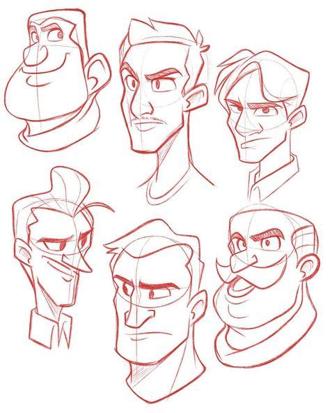 Cartoon Drawing Design Warm up sketch before starting work
