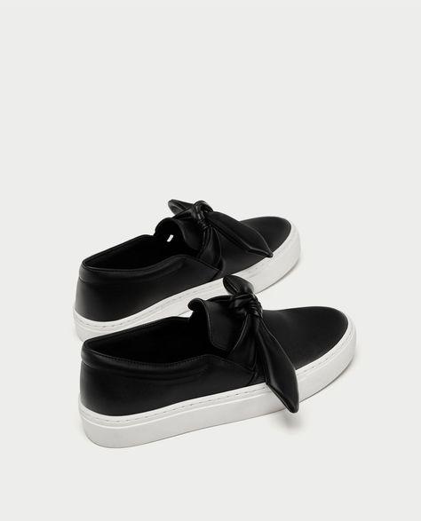 Zapatos deportivos Suede Bow Block para mujer