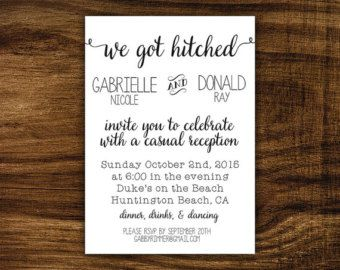 Wedding Reception Only Invitations On Kraft By Notedoccasions Hb