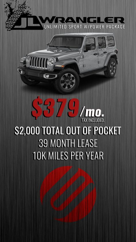 2018 Jeep Wrangler Jl Unlimited Sport Jeep Wrangler