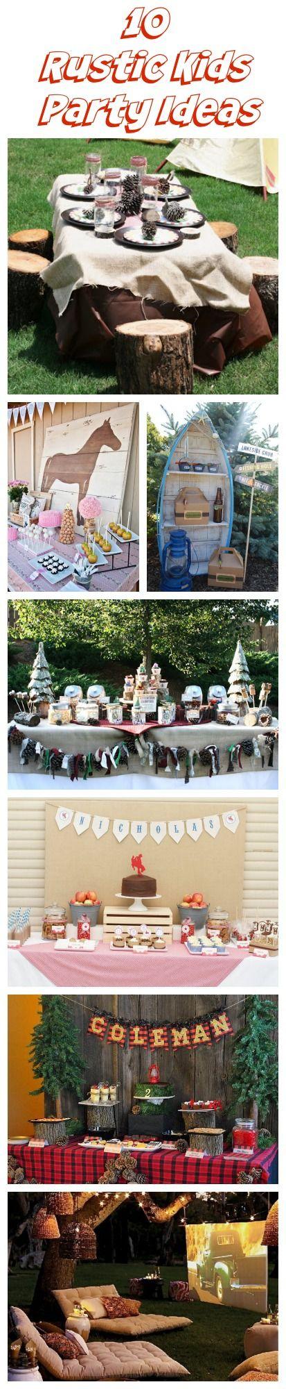 10 rustic kids birthday party ideas birthday party ideas