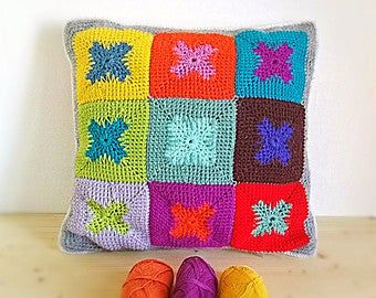 CUSTOM Tunisian Crochet Pillow Cover