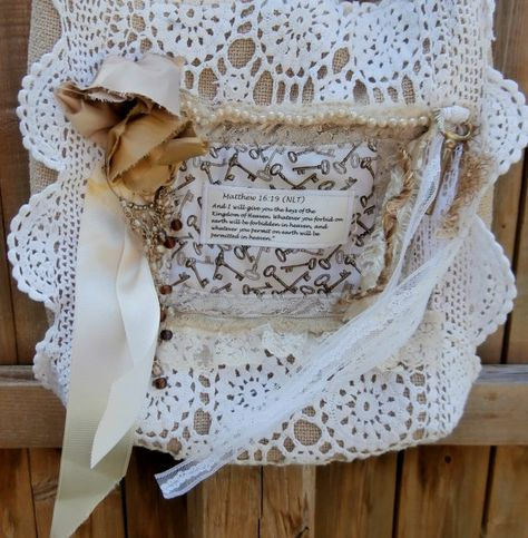 Shabby Chic Purse Romantic Victorian Cottage by CrossMyHeartBags, $35.00