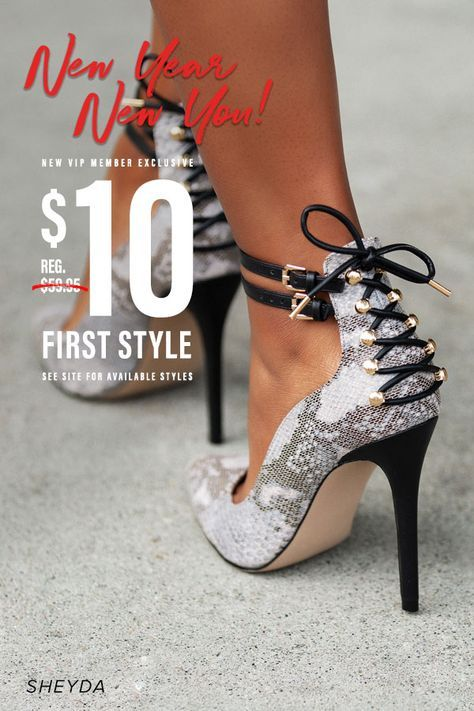 New year new you! New VIP member exclusive. First style $10. See site for available styles! Tap through to redeem