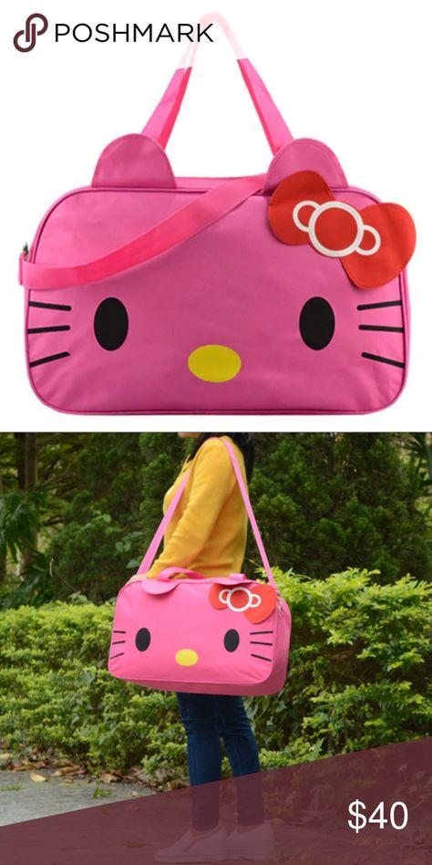05894e52ea0b Hello Kitty Large Rose Duffle Travel Gym Bag Hello Kitty weekender tote  travel gym duffle bag BRAND NEW