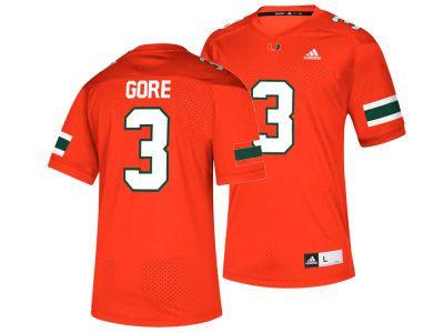 wholesale dealer d6300 976a1 Miami Hurricanes Frank Gore adidas NCAA Replica Football ...