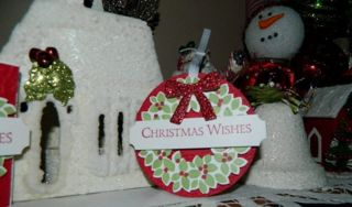 Wonderous Wreath Tag, Stampin' UP! Christmas