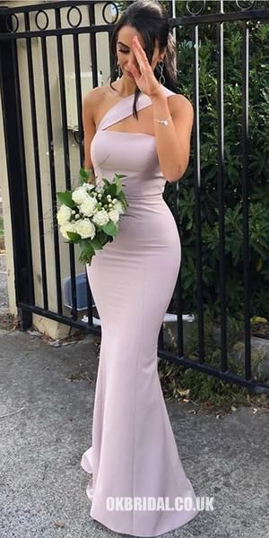 Mermaid One-Shoulder Backless Sexy Long Bridesmaid Dress, FC.- Mermaid One-Shoulder Backless Sexy Long Bridesmaid Dress, -
