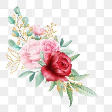 Arreglo De Flores De Acuarela Con Hojas Doradas Para Invitacion De Boda Flores Boda Invitacion Png Y Psd Para Descargar Gratis Pngtree Ilustracion De Flor Acuarela Floral Ilustraciones De Flores
