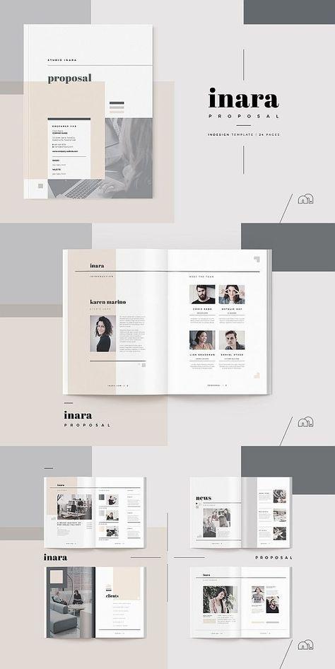 Vorschlag Inara Inara Proposal Template Angebot Broschure Vorlage Indesign Broschure V Portfolio Design Layouts Produktkatalog Design Broschure Vorlage