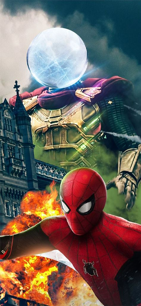 spiderman far fromhome character poster Wallpaper