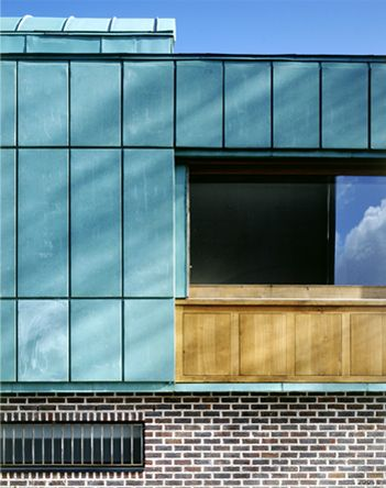 De Blacam And Meagher Architects. 3 Mews Houses. Award Winning Project With  Copper Facade