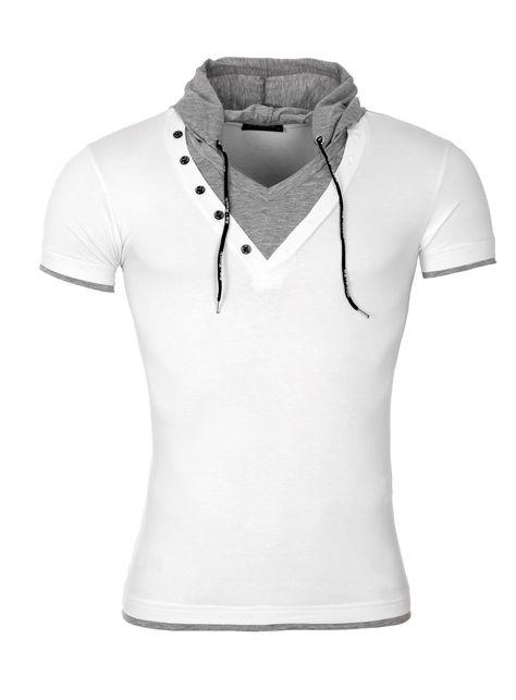 Rerock T Shirt Run Mit Kapuze White Mens Tshirts Rerock Shirts
