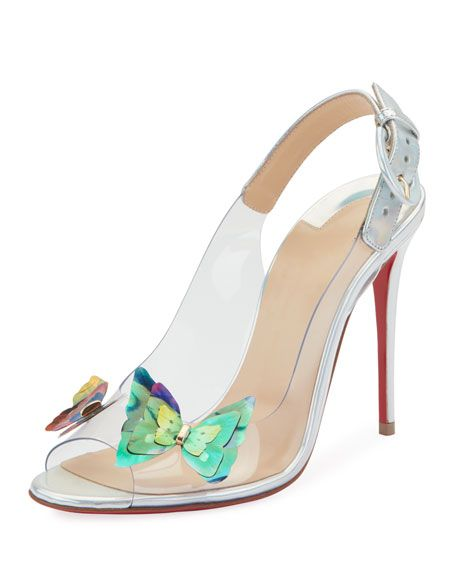 brand new 7858a 2d487 Christian Louboutin Ilcepoze 100 See-Through Red Sole Pumps ...